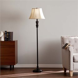 Southern Enterprises Dennison Floor Lamp Black and Gold