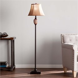 Southern Enterprises Doyle Floor Lamp in Brown and Copper