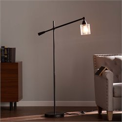 Southern Enterprises Tiernan Floor Lamp in Black
