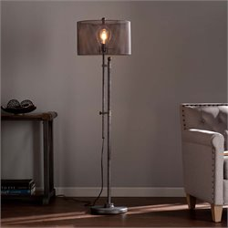 Southern Enterprises Zylen Floor Lamp in Brushed Gunmetal