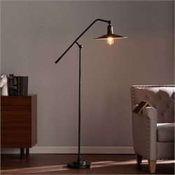 Southern Enterprises Victor Floor Lamp in Matte Black