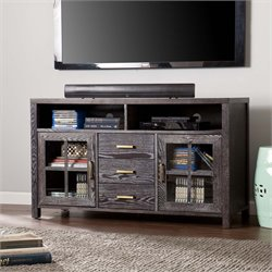 Southern Enterprises Kenwick TV Stand in Dark Gray
