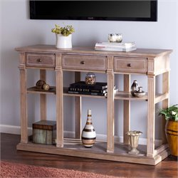Southern Enterprises Fortenbury Console Table in Weathered Natural