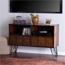 Southern Enterprises Blankenship TV Stand in Whisky Maple