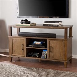 Southern Enterprises Talus TV Stand in Weathered Gray Oak