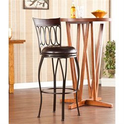 Brookshire Swivel Bar Stool in Dark Brown