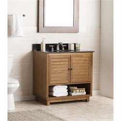 Southern Enterprises Lansbrook Single Granite Top Bathroom Vanity