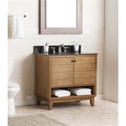 Southern Enterprises Ridglea Single Granite Top Bathroom Vanity