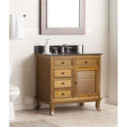 Southern Enterprises Wallingford Single Granite Top Bathroom Vanity