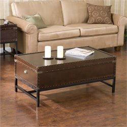 Southern Enterprises Voyager Storage Coffee Table in Espresso