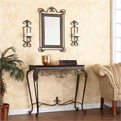 Southern Enterprises Capshaw 4 Piece Console Table Set in Bronze