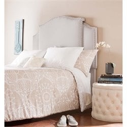 Southern Enterprises Hemlock Expandable Upholstered Headboard in Gray