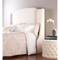 Southern Enterprises Kirkham Expandable Upholstered Headboard in Ivory