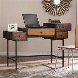 Southern Enterprises Kedzie Multilevel Computer Desk in Espresso