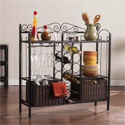 Southern Enterprises Bistro Wine Rack in Black and Espresso
