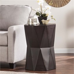 Southern Enterprises Tremont Accent Table in Antique Black
