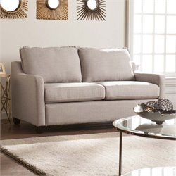 Southern Enterprises Allington Loveseat in Soft Gray