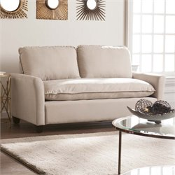 Southern Enterprises Croyland Loveseat in Warm Sand