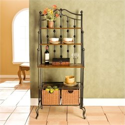 Southern Enterprises Carlsbad Baker's Rack in Black
