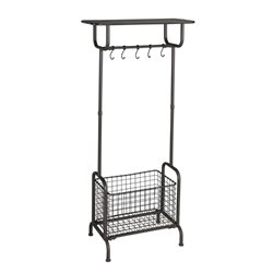 Southern Enterprises Renfro Metal Entryway Storage Rack in Brown