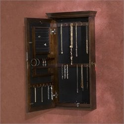 Southern Enterprises Vivienne Wall-Mount Jewelry Armoirein Espresso