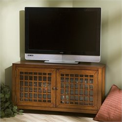 Southern Enterprises Akita Corner Media Stand in Walnut