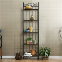 Southern Enterprises Celtic 5 Shelf Bakers Rack in Gunmetal Gray