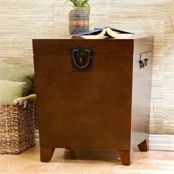Pyramid Storage Trunk End Table