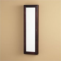 Southern Enterprises Sophia Wall-Mount Jewelry Mirror in Cherry