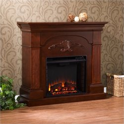 Southern Enterprises Huntington Electric Fireplace in Mahogany