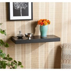 Chicago Floating Wall Shelf in Black