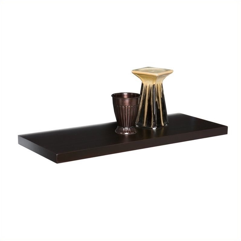 Southern Enterprises Aspen Floating Shelf in Espresso