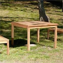 Southern Enterprises Teak Square Patio Dining Table