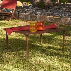 Southern Enterprises Picnic Table-in-a-Bag in Dark Oiled Brown