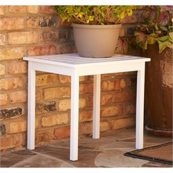 Southern Enterprises End Table in Painted White