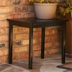 Southern Enterprises End Table in Painted Black Finish