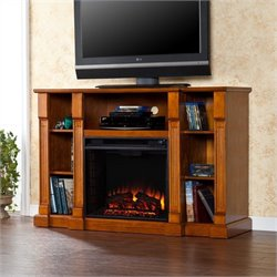 Kendall Electric Fireplace TV Stand in Glazed Pine