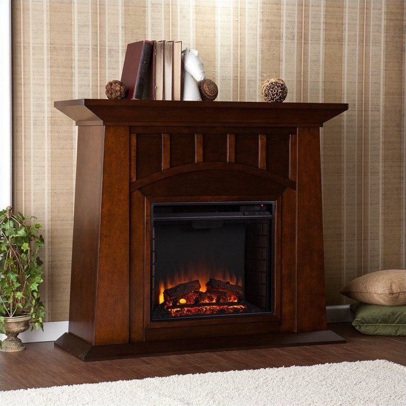 Southern Enterprises Lowery Electric Fireplace In Espresso Fe9668