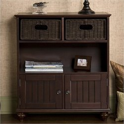 Southern Enterprises Chelmsford Storage Console in Rich Espresso