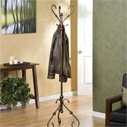 Southern Enterprises Lourdes Hall Tree in Antique Bronze Finish