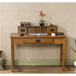 Southern Enterprises Sebastian Desk in Mission Oak