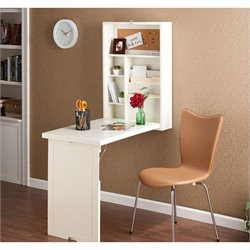 Southern Enterprises Leo Folding Desk in Winter White