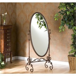 Southern Enterprises Blythe Cheval Mirror in Antique Bronze