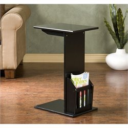 Southern Enterprises Upton Magazine Snack Table in Black