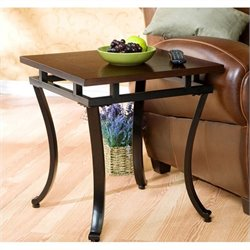 Southern Enterprises Surrey End Table in Rich Espresso