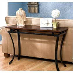 Southern Enterprises Surrey Sofa Table in Rich Espresso