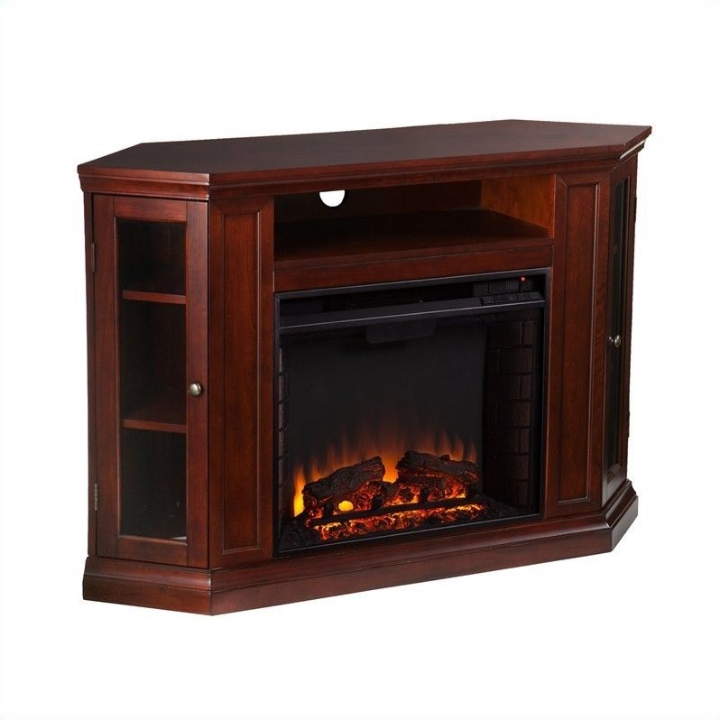 Southern Enterprises Ponoma Convertible Electric Fireplace Cherry Fe9310