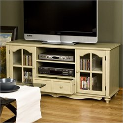 Southern Enterprises Roosevelt Large TV Console in Antique White