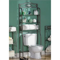 Southern Enterprises Reflections Spacesaver in Pewter
