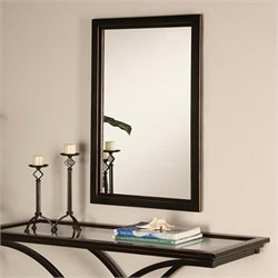 Southern Enterprises Vogue Wall Mirror in Black and Distressed Copper